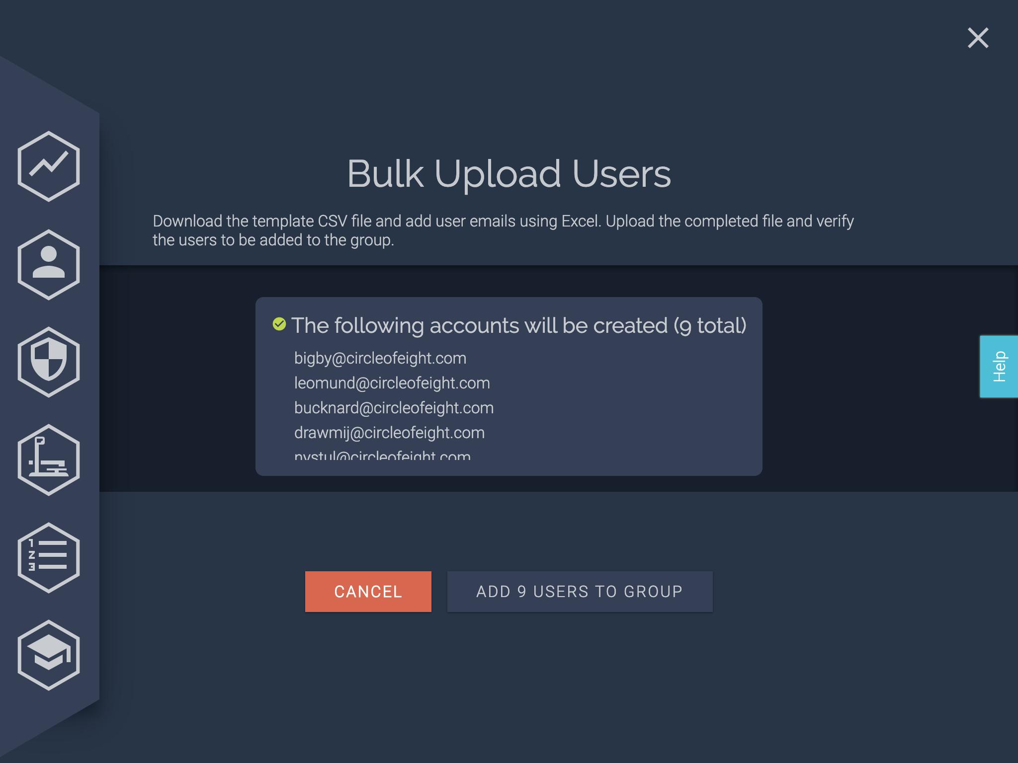 bulk upload confirm page