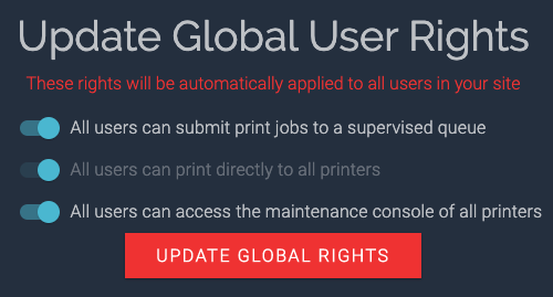 BuildBee global user rights
