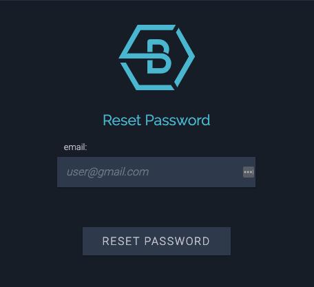 Reset password box